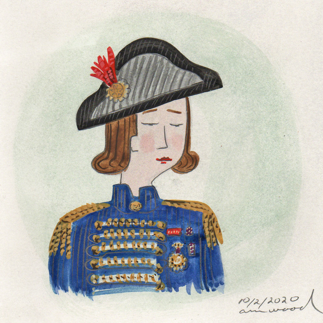 small painting : soldier in bicorne