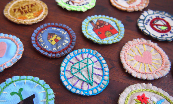 hand stitched merit badges diy