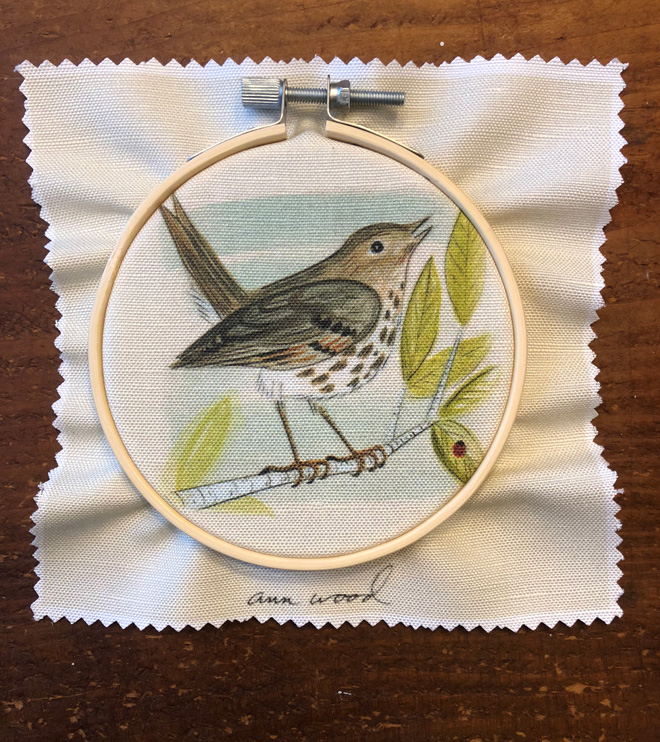 embroidery - bird stitch painting