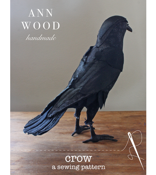 sewing pattern for a realistic crow