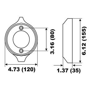 00161A Volvo Penta V18 Prop Ring Anode 280 Series (2