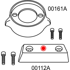 10276A Volvo Penta 290 Complete Anode Kit (2-24276A