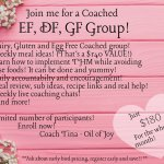 Allergy Friendly COACHED Group is coming up!!