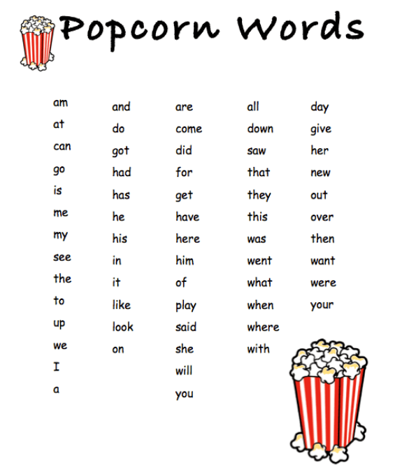 Weniger, Diane K / Popcorn Sight Words
