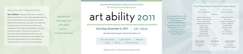 Art Ability 2011 Invite