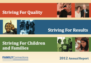 Family Connections Annual 2012 cover