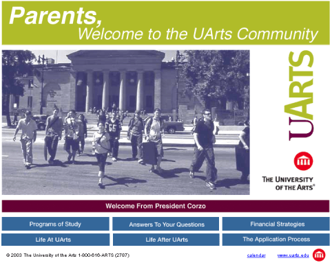 UArts Parents Website