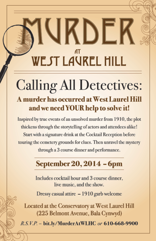 Murder At West Laurel Poster/Ad