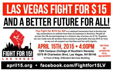 Fight For $15 Las Vegas Flyer