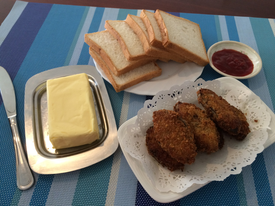 fried sear fish meal