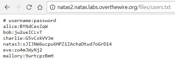 Overthewire natas 1