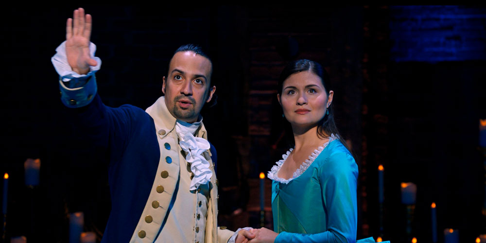 Alexander Hamilton ed Eliza Schuyler nel musical su Disney+