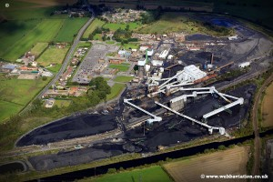 aerial photograph of Kellingley Colliery , Beal, near Knottingley  West Yorkshire UK 