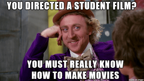why no one gives a shit about your student film