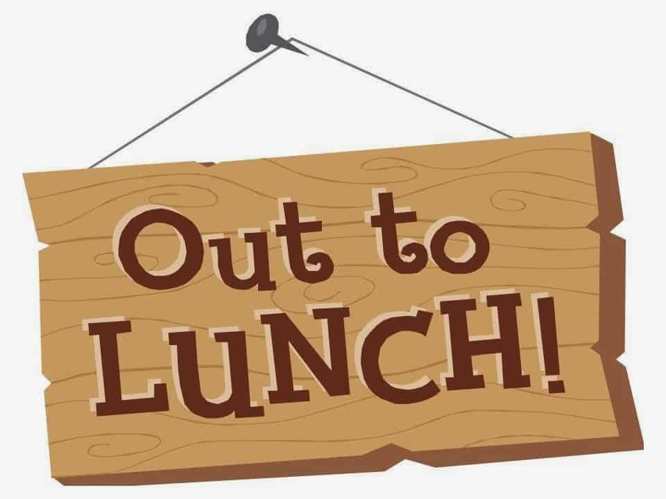 wooden out to lunch clipart the anonymous production assistant rh anonymousproductionassistant com Lunch Break Clip Art out to lunch clipart free