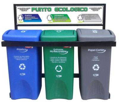 Punto ecolgico Canecas de reciclaje separacin de basuras