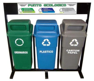 Canecas para reciclaje Punto ecolgico separacin de
