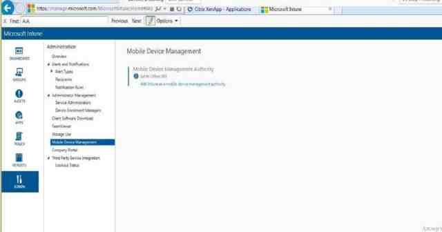 Intune_Office365 MDM Authority