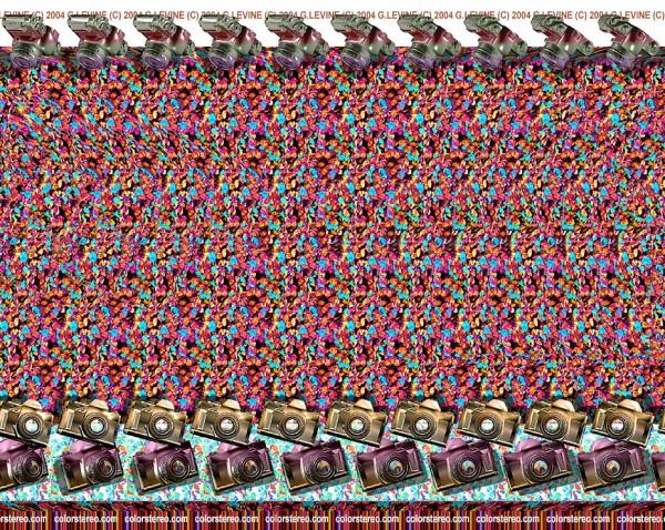 Cameras Stereogram by Gene Levine