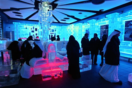 Anorak News  Dubai Ice Hotel Climate Change In An Instant