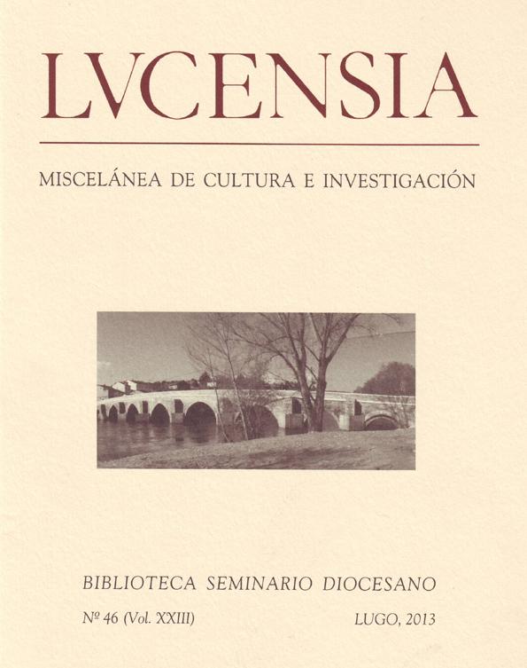 Revista da biblioteca do Seminario de Lugo