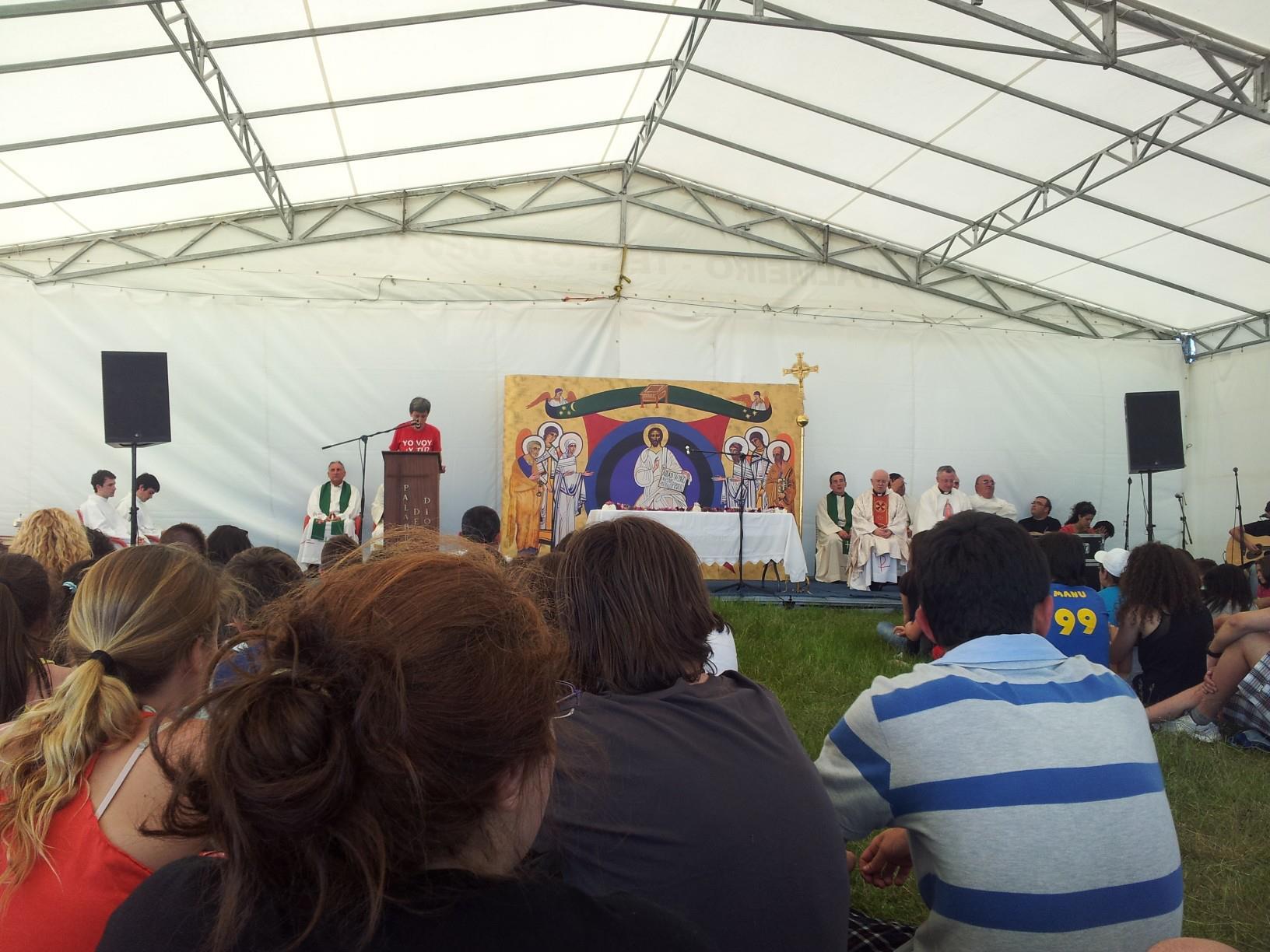 Eucaristía que pechou a peregrinación ó Faro 2013