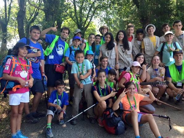 acollida a peregrinos en Portomarín grupo de Madrid