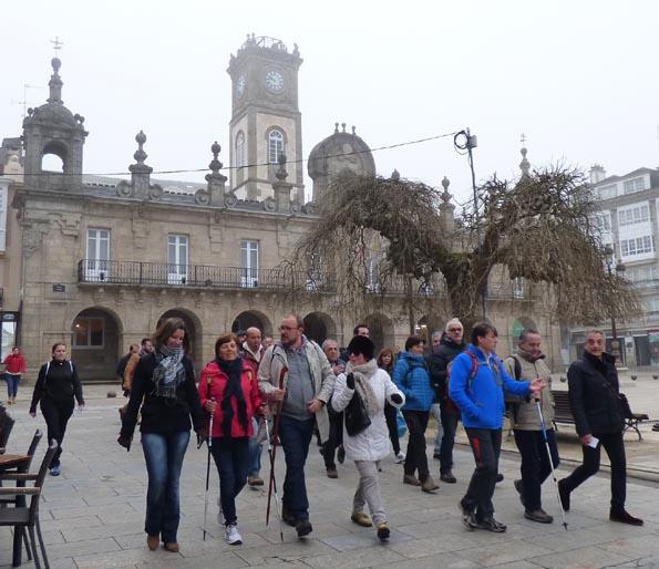 peregrinos parten de Lugo