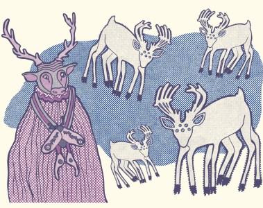 mystic deer man illustration