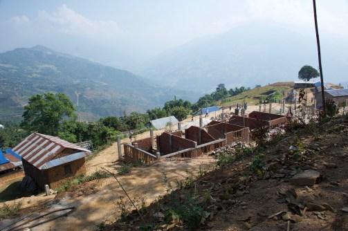 Construction progress at Sharada School