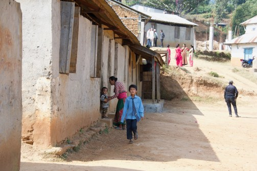 Outside the older classrooms
