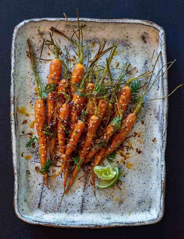 Miso Maple Carrots