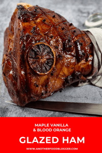 Vanilla Maple Glazed Ham