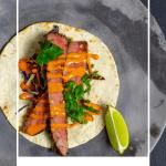 1 korean steak taco on a plate
