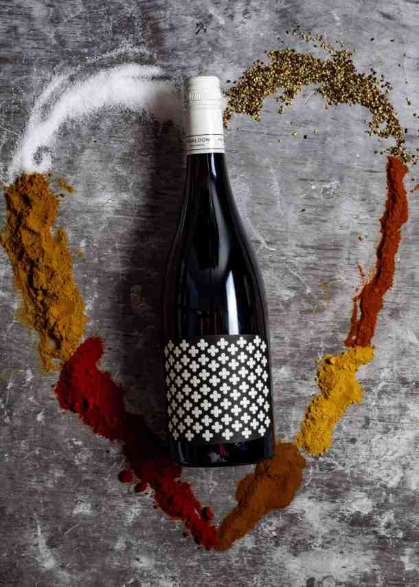 red wine & love heart of spices