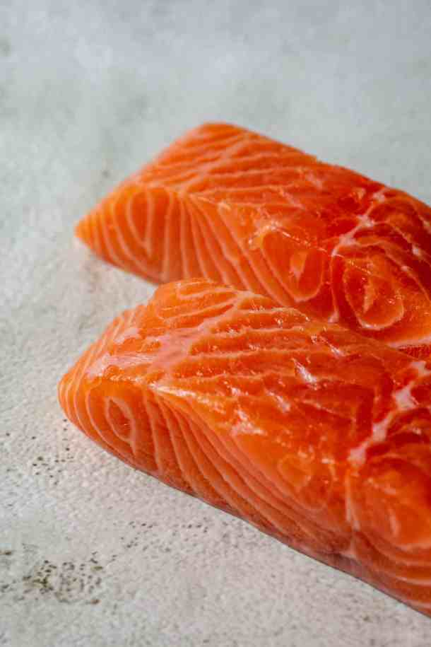 skinless salmon fillets