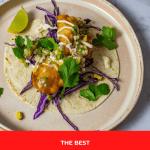 crispy fish taco on a plate