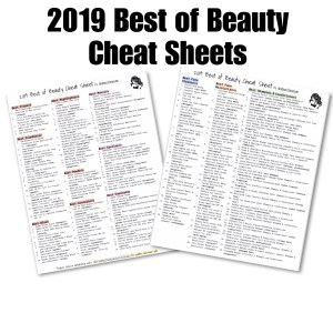 2019 Best of Beauty Cheat Sheets