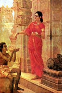 """A Hindu Woman Giving Alms,"" by Raja Ravi Varma"