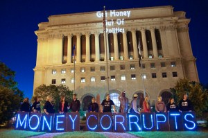 """Get Money Out of Politics"" by Flickr user Light Brigading"