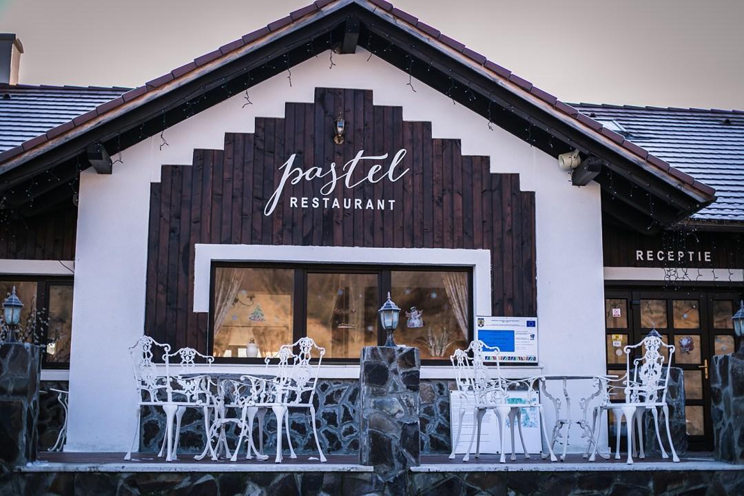 pastel chalet restaurant exterior