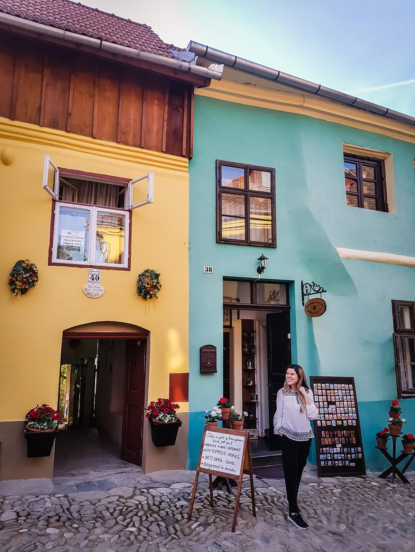sighisoara colorful houses