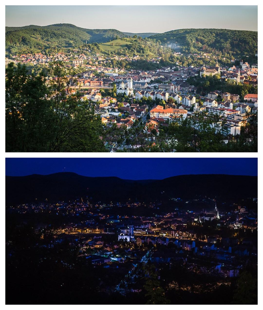 sighisoara day and night