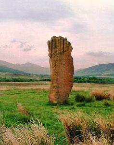Ebenezer: Machrie Moor standing stone, Scotland