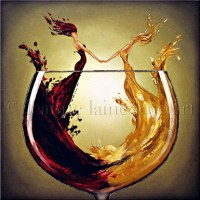 Wine for your Walls: Leanne Laine Fine Art  Another Wine Blog