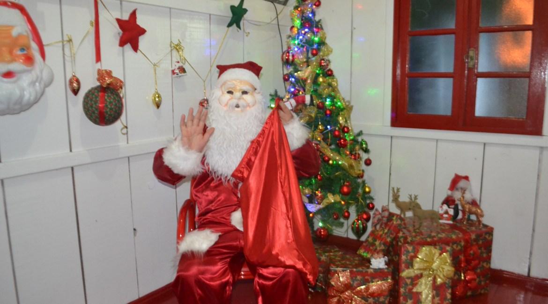 Confira as imagens da Casinha do Papai Noel