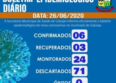 Boletim epidemiológico- CATUÍPE – 26/06/2020