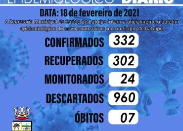 Boletim epidemiológico- CATUÍPE – 18/02/2021