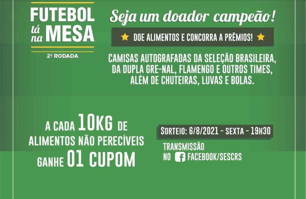 Catuípe adere ao Projeto Futebol Tá Na Mesa – Seja um doador campeão