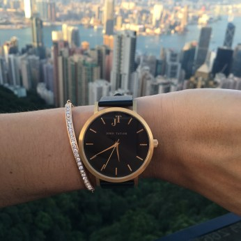 woman's watch black and gold in Hong Kong